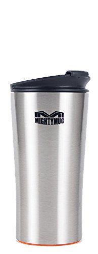 Mighty Mug Mini 12 oz Stainless Steel Tumbler, The Travel Mug That WonÕt Fall, with Double Wall...