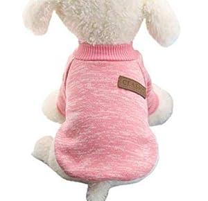 Fligatto pour Animal Domestique Vêtements, Pull Laine Chaud Manteau pour Animal Domestique Chiot
