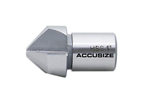 Accusize Industrial Tools 1'' Diameter Rota Cutter Countersink, Hss Countersink for Rota-Cutter, 3/4'' Weldon Shank, Ce00-0001