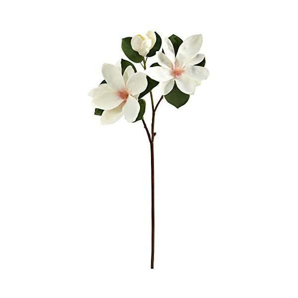 Nearly Natural 31in. Japanese Magnolia Artificial Flower (Set of 3), White