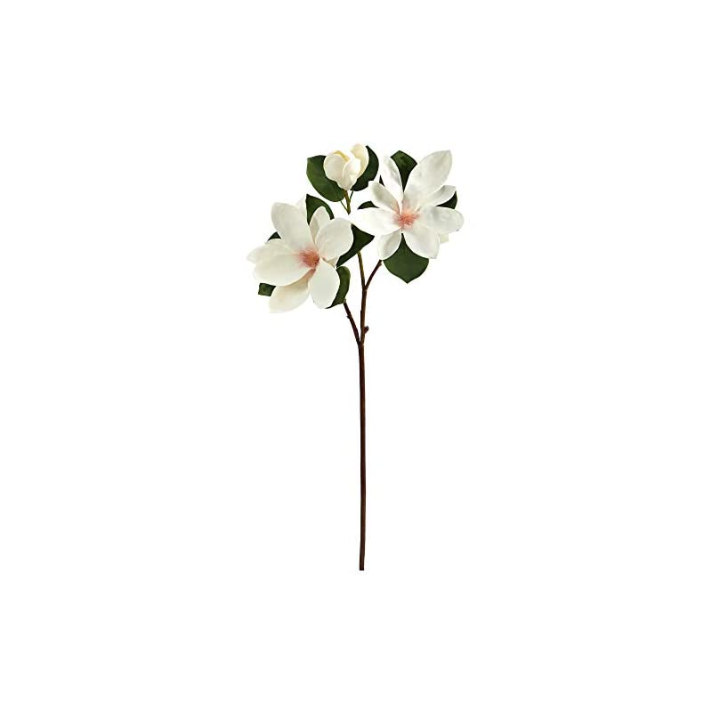 silk flower arrangements nearly natural 31in. japanese magnolia artificial flower (set of 3), white