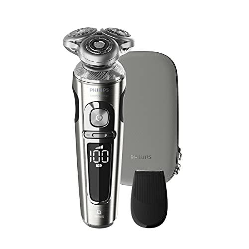 Philips SP9820/12Rasoio Elettrico S9000Prestige Wet&Dry Rasoio Elettrico da Uomo con Sensore BeardAdapt, Rifinitore