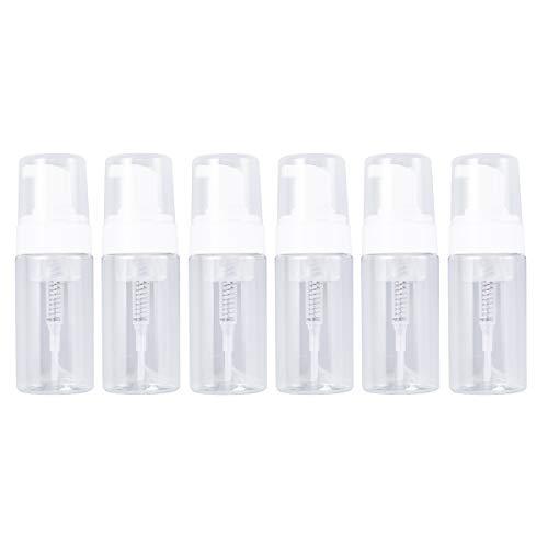 Lurrose Botella plástica bomba de 6Pcs 100ML, botella que hace espuma botella cosmética del viaje transparente,envases para el líquido limpiador facial de los champús
