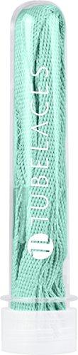 TubeLaces White Flat, Cordones de zapatos, Verde (Light Mint), 111-120 cm, Pack...