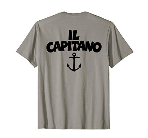 Il Capitano (Schwarz) Kapitän Anker Boot & Segel T-Shirt