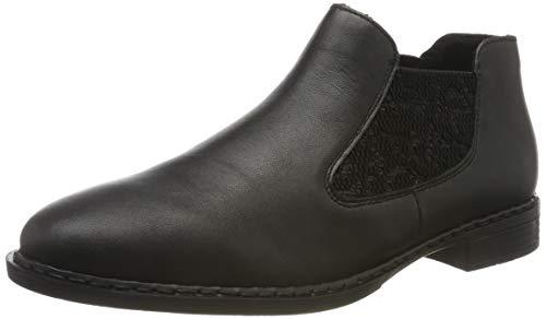 Rieker Damen 52490-00 Chelsea Boots, Schwarz (Schwarz/Schwarz 00), 39 EU