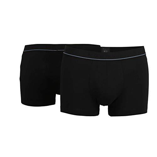 bugatti Herren Pants, Baumwolle, Single Jersey schwarz, Uni, 2er Pack 7