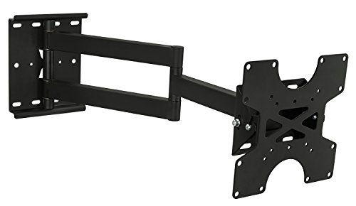 Mount-It! TV Wall Mount Full Motion Bracket For 30, 32, 35, 37, 40 Inch Televisions Fits LCD/LED/Plasma 4K Flat Screens, VESA 75x75 to 200x200, 100 Lb Weight Capacity, Black (MI-411)