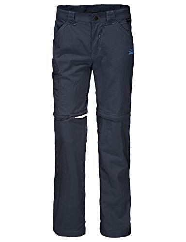 Jack Wolfskin Kinder SAFARI Zip Off Pants, Blau (night blue), 128