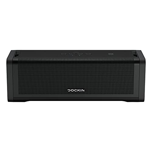 DOCKIN® D FINE+ 2 Hi-Fi Bluetooth Lautsprecher 50W, Stereo HiFi Speaker, Wireless, für Outdoor / Indoor, starker austauschbarer Akku (9.600 mAh) 16 Std, integrierte Powerbank, Bass Boost Equalizer