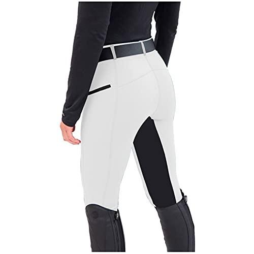GenericBrands Taurner Pantalones de Montar Mallas de Mujer Elásticas Montar A Caballo Deportes Ropa Polainas Cintura Alta para Equitación