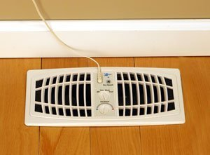The AirFlow Breeze Home Heating/Cooling System (Brown) (Fits 4W x 10L opening) by Lux