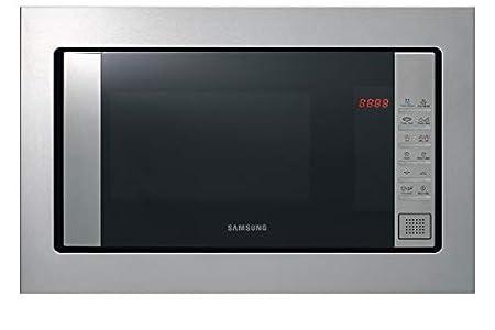 Samsung FG87SST/XEC Microondas de Integración Con Grill, 23 Litros de capacidad, Interior Cerámico Enamel, Potencia 800W/1100W, Acero Inoxidable, Sistema de ondas TDS, Limpieza Vapor Steam Clean