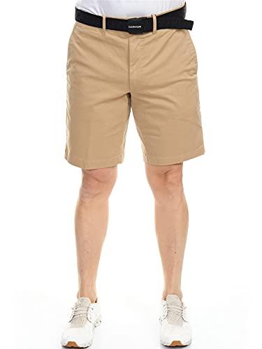 Calvin Klein Pantalones cortos Slim de algodón orgánico con cinturón beige 38