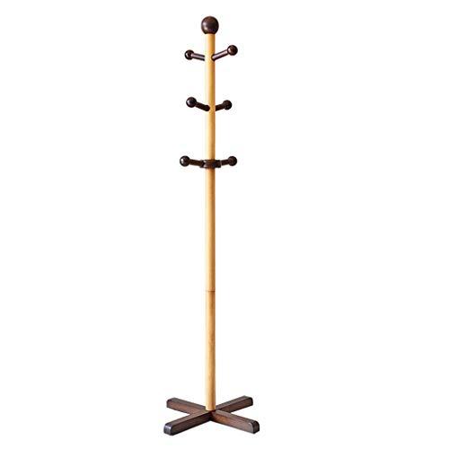 PYROJEWEL el Norte de Europa Perchero de pie Perchas de madera maciza bolsa de la suspensión del bolso del estante dormitorio 133x40cm Perchero de todos los niños de madera maciza.Plataforma de montaj