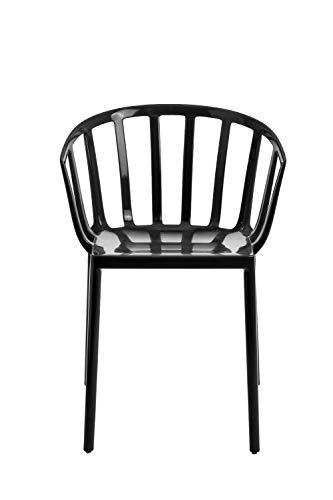 Kartell - Venice Armlehnstuhl - schwarz - Philippe Starck - Design - Esszimmerstuhl - Gartenstuhl - Küchenstuhl - Speisezimmerstuhl