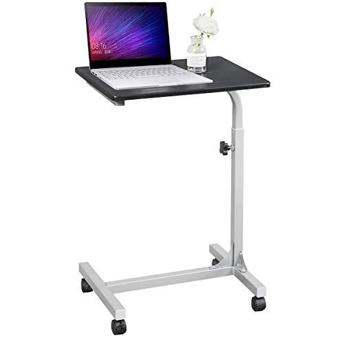 Aingoo Computertisch Schreibtich Pflegetisch Bettisch Frühstückstisch Höhenverstellbar 48 x 37 x 67-79cm Tisch in Schwarz
