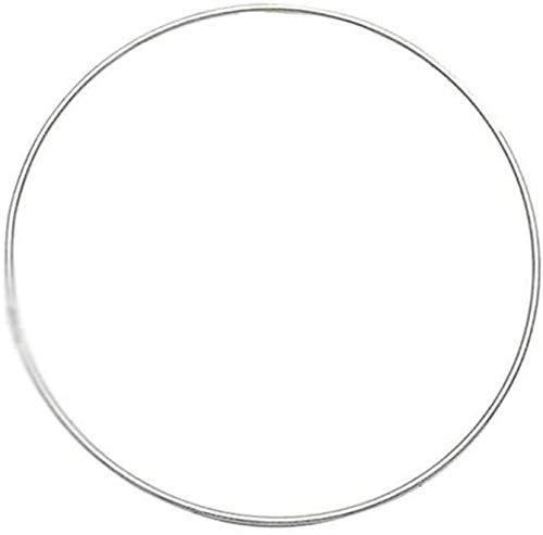 JUNGEN Anillos de Metal de Atrapasueños Aros de Metal Anillo de Macramé para Manualidades Artesanía 10CM/15CM 20CM/25CM/30CM/40CM Silber