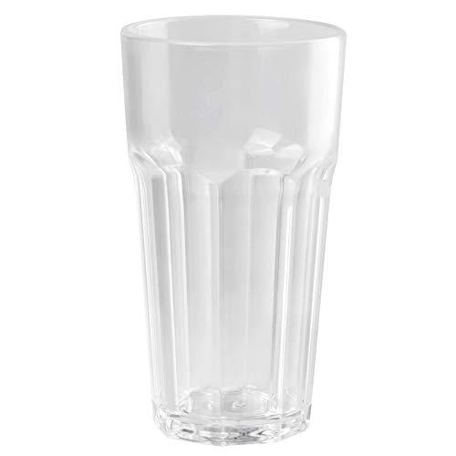 Demeras Vaso de whisky de 350 ml para la familia (transparente, taza octogonal, 350 ml, 7,7 x 14)
