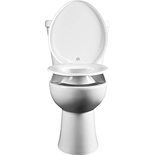 Bemis Independence 7YR85300TSS Clean Shield 3' Raised Toilet Seat, Round, White
