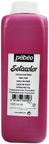 Pebeo Setacolor Light Fabrics 1-Liter Fuchsia Bottle Selling OFFicial Paint