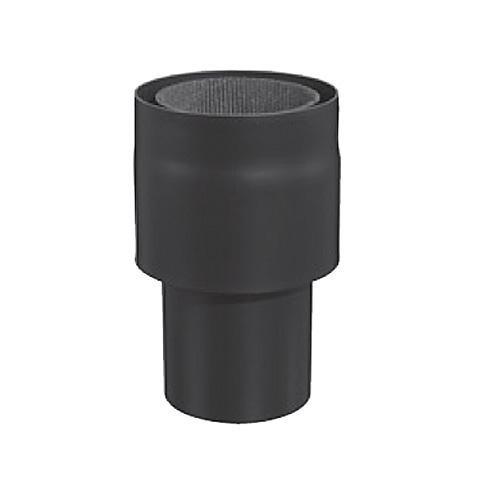 Möck Anschlussstück an Ofenstutzen, Außenrohr kürzbar, System Primus, 150 mm Schwarz
