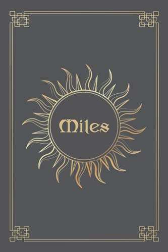 MILES JOURNAL GIFTS: Lined Notebook with Personalized Name On The Cover (Perfect Present for All Events)