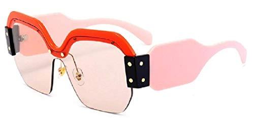 KIRALOVE - Gafas de sol - niña - retro - cuadradas - moda - grandes - mujer - oversize - hexagonales - idea regalo - vintage Montatura Rossa E Rosa - Lente Trasparente Talla única