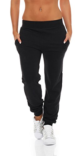 Gennadi Hoppe Damen Jogginghose Trainingshose Sweat Pants Sporthose Fitness Hose,schwarz,Medium