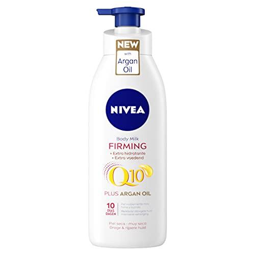 NIVEA Q10 Aceite de Argán Body Milk hidratante Reafirmante + Hidratante (1 x 400 ml),...
