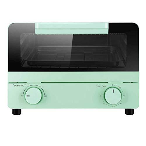 Mini horno de 10 l, horno tostador Breville, estilo retro que ahorra espacio y se calienta rápidamente, horno tostador, temporizador de 60 minutos de 800 W, verde, horno tostador de convección