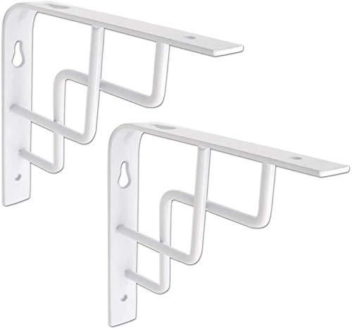 DX 2 stks Tablet Houder Wit Muur Dikke Partitie Tablet Stand 90 Graden Hoek Statief Maximale Belasting 100 kg (Maat: 150 * 150mm)