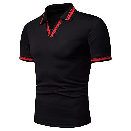 SSBZYES Camisetas Polo De Verano para Hombre Camisetas para Hombre Camisetas De Manga Corta para Hombre Camisetas con Cuello En V Sueltas para Hombre Tamaño Europeo De Manga Corta con Solapa