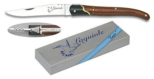 Navaja LAGUIOLE Stamina y micarta Hoja 9,5 cm para Caza, Pesca, Campin