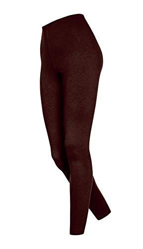 DeDavide Lange Damen Badmintonhose, Dunkelbraun, M