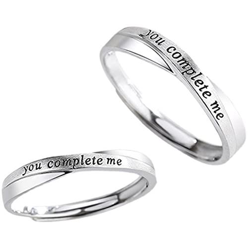 Chereda You Complete Me Coppia Anelli Per Uomini Donne Anelli Semplice Corrispondenza Anelli Gioielli Regolabile Regalo di San Valentino