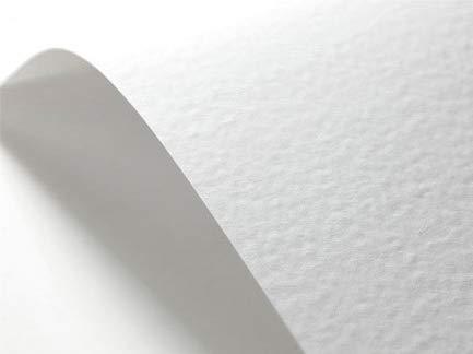 Netuno 40 x Weiß 246g Struktur-Papier gehämmert, Hammerschlag-Prägung DIN A5 148x210 mm, Elfenbeinkarton Ultraweiß, Bastel-Karton geprägt, ideal für Visitenkarten, Einladungs-Karten, Zertifikate