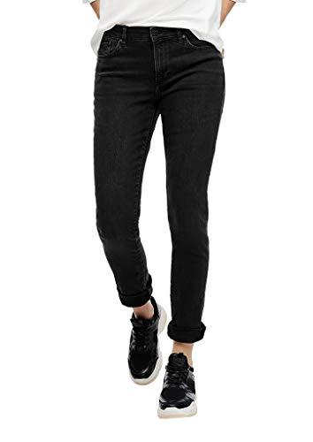 s.Oliver Damen Slim Fit: Slim leg-Jeans dark grey 44.30