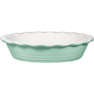 Palais Dinnerware 'Tarte' Collection, Ceramic Pie Dish - 10  Diameter (Mint Green)