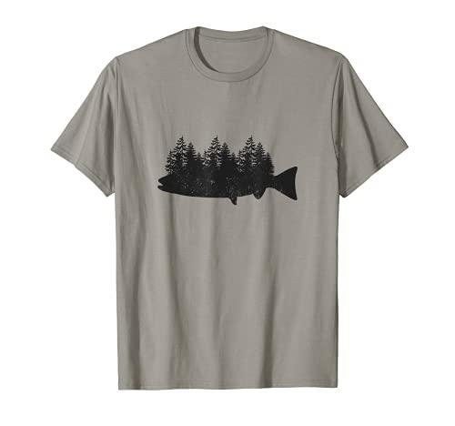 Angeln Shirt Geschenk für Herren Bootsrute Fisch Forrest Herren Dad