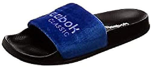Reebok Unisex-Erwachsene Classic Slide Dusch-& Badeschuhe, Mehrfarbig (Ryl White / Black 000) , 44.5 EU