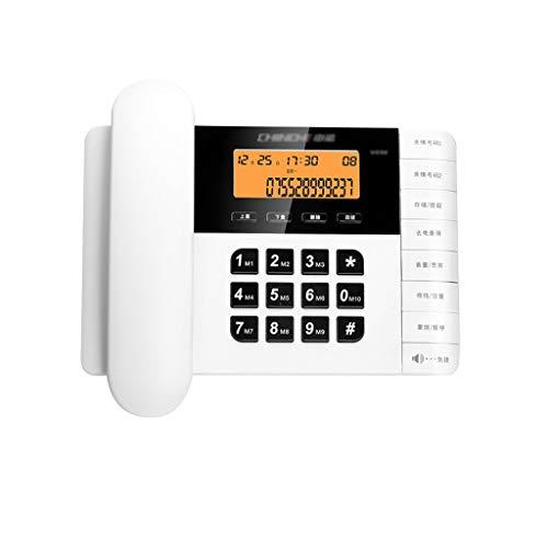 YVX Teléfono Teléfono sin Pilas Hogar Sala de Estar Dormitorio Teléfono Fijo Oficina Comercial Hotel Línea Fija 216 * 148 * 86 mm (3 Colores Disponibles) (Color: Blanco)