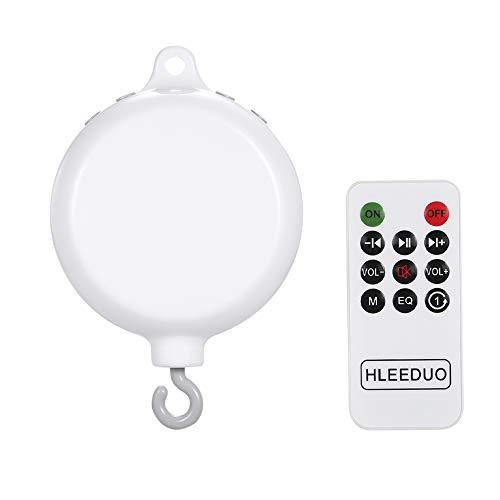 Decdeal Baby Musik Mobile Spieldose Musikdose mit 128MB TF-Speicherkarte, Drehend Haken, 35 Wiegenlied, Fernbedienung