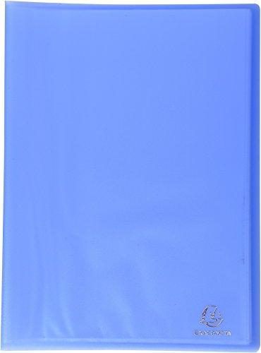 Exacompta 85462E - un Porte-vues soudés Chromaline en PP semi rigide 80 vues 24x32 cm pour format 21x29, 7 cm, Bleu