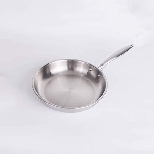 Cacerola de la Olla 304 Acero Inoxidable Tres Capas de Acero Wok Touchle Pan de Fideos Gas Universal Flat Fill Fill SART Pan sin Recubrimiento Olla de Sopa