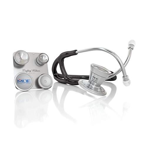 MDF ProCardial C3 Titan Kardiologie Zweikopf-Stethoskop aus Titan mit umbaubarem Bruststück für Erwachsene, Kinder, Säuglinge und Neugeborene - Gratis-Parts-for-Life -Schwarz (MDF797CC11T)