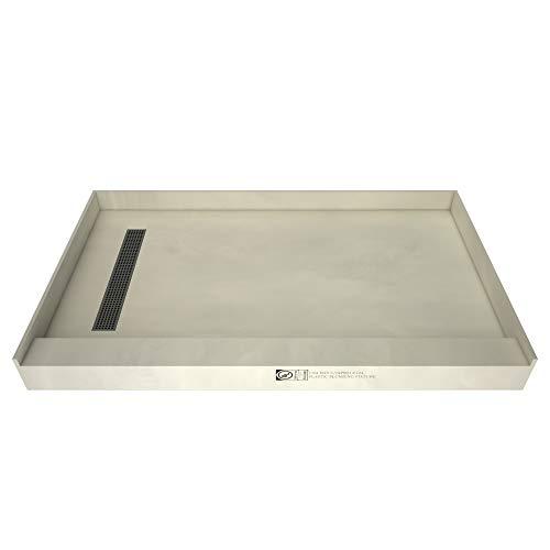 Tile Redi USA RT3060L-PVC-SQBN Trench Shower Pan, 60' W x...