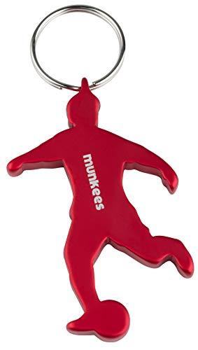 munkees Schlüsselanhänger Fussball I Flaschenöffner I Fußball Fanartikel I Geschenk Artikel, Rot, 34904