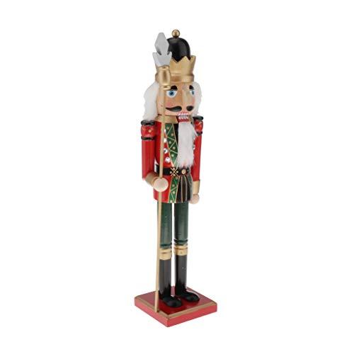 dailymall 50cm Holz Nussknacker Soldat Figur Marionette Weihnachtsschmuck - Style2