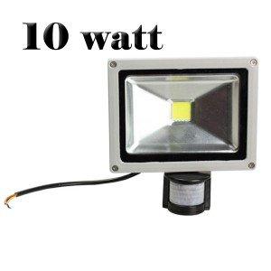 Faretto a led con sensore di movimento e crepuscolare faro luce bianca fredda 10W 20W 30W 50W. MWS (10 Watts)